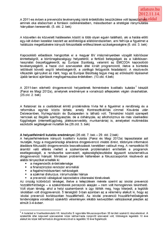 közös kezelési ajánlások)