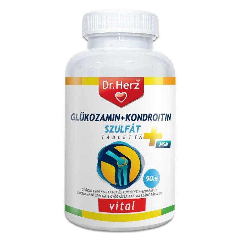 kondroitin glükózamintablettákkal