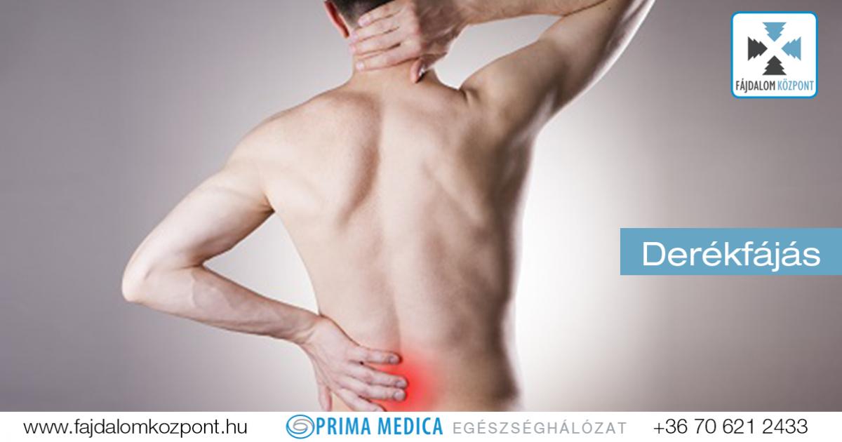 fájdalom a hát alsó részén és a bal csípőben)