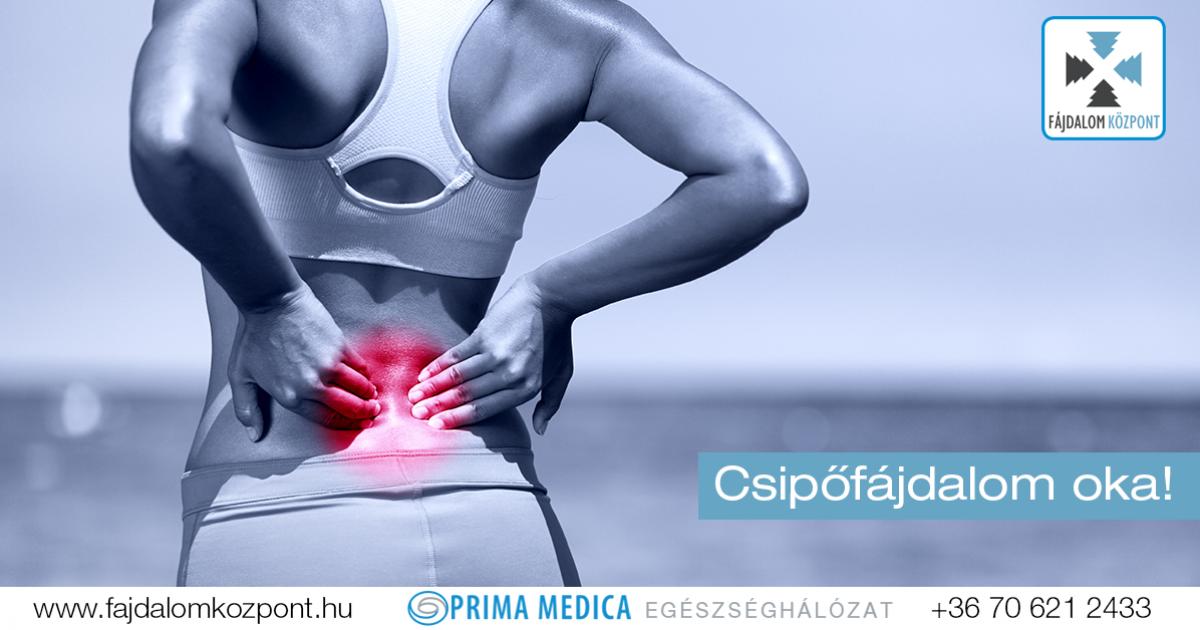 a csípőízületben történő mozgatás során fellépő fájdalom okokat okoz)