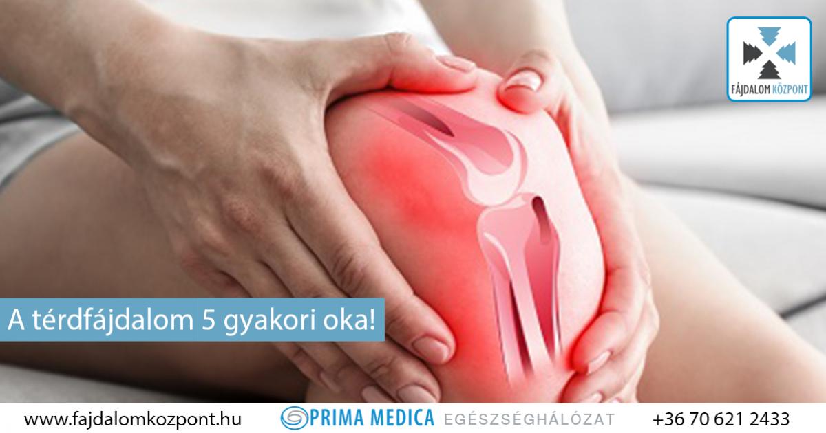 a térdízület fájdalma és ropogása okozza)