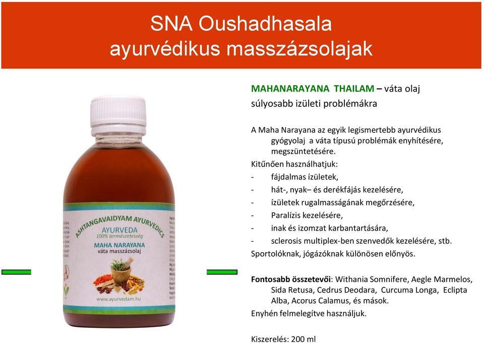 ayurvédikus készítmények ízületek kezelésére)