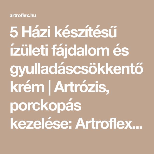 az artrózis az igazi gyógymód)