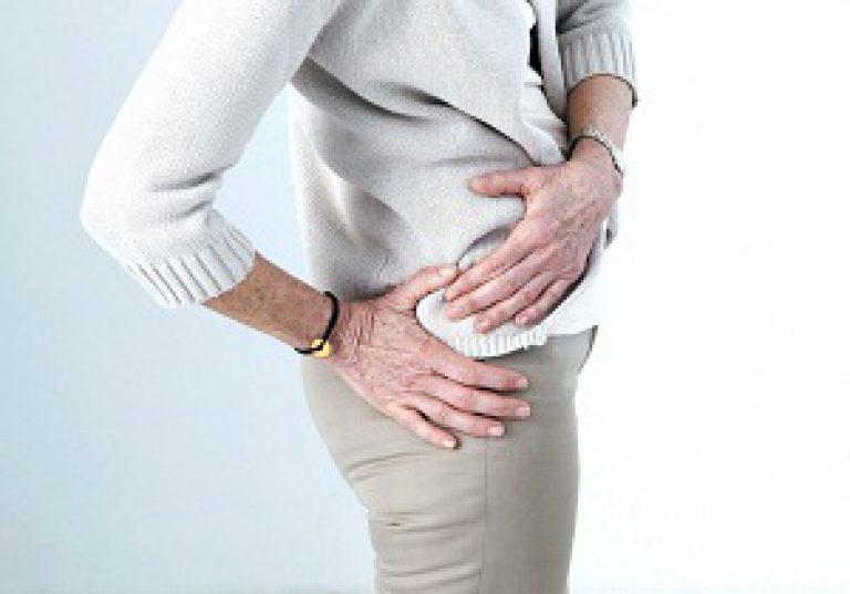 coccyx fájdalom, amely kiterjed a csípőízületekre)